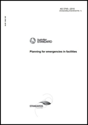AS 3745-2010 Planning for emergencies in facilities cover