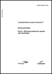 ASNZS 2890.6 2009  Parking facilities - Off-street parking for people with disabilities