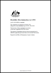 Disability Discrimination Act 1992 cover