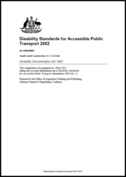 Disability Standards for Accessible Public Transport 2002 cover