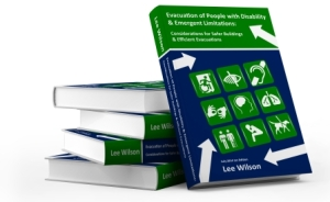 Evacuation Guidebook, Evacuation of People with Disability and Emergent Limitations cover, by Lee Wilson