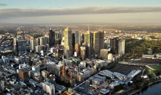 Melbourne skyline, view during day