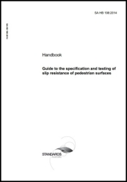 SA HB 1982014  Guide to the specification and testing of slip resistance of pedestrian surfaces cover