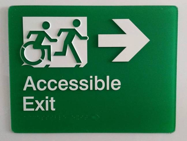 Braille Sign Supplies Accessible Exit Sign Right Arrow