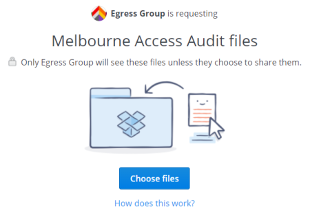 Egress Group are requesting MAA files on Dropbox