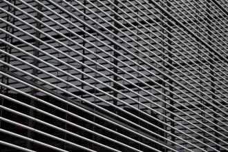 Abstract architectural view of a skyscraper facade